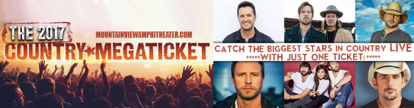 2017 Country Megaticket Tickets (Includes All Performances) at USANA Amphitheater