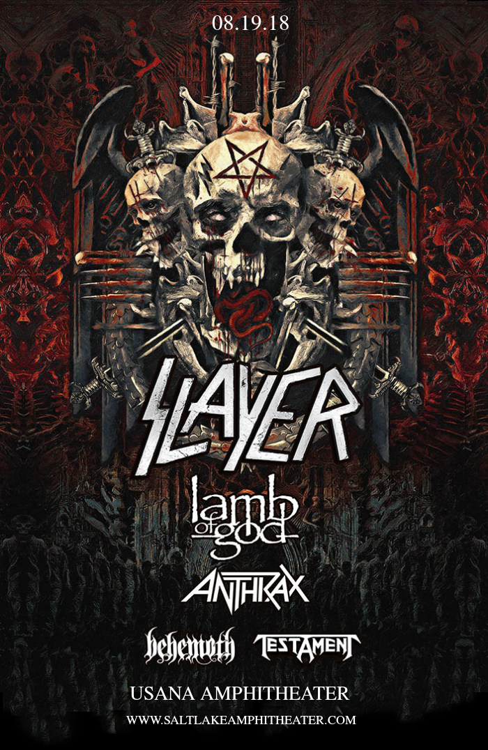 Slayer, Lamb of God & Anthrax at USANA Amphitheater