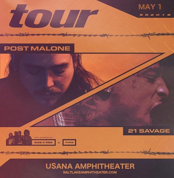 Post Malone at USANA Amphitheater