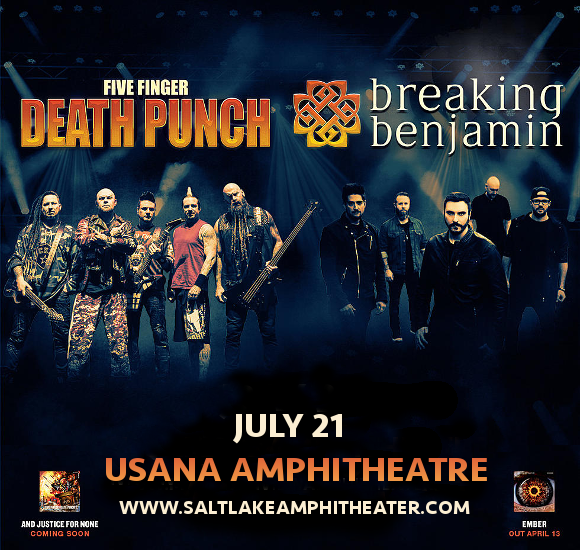 Five Finger Death Punch & Breaking Benjamin at USANA Amphitheater
