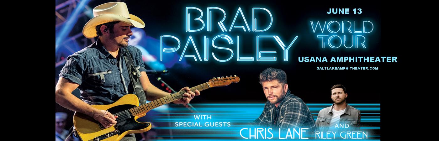 Brad Paisley, Chris Lane & Riley Green at USANA Amphitheater