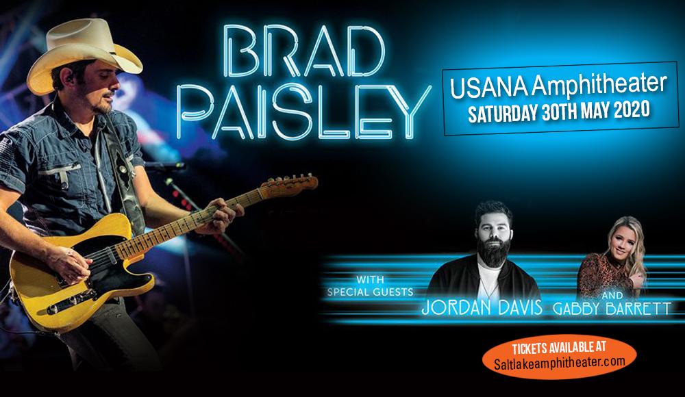 Brad Paisley, Jordan Davis & Gabby Barrett [CANCELLED] at USANA Amphitheater