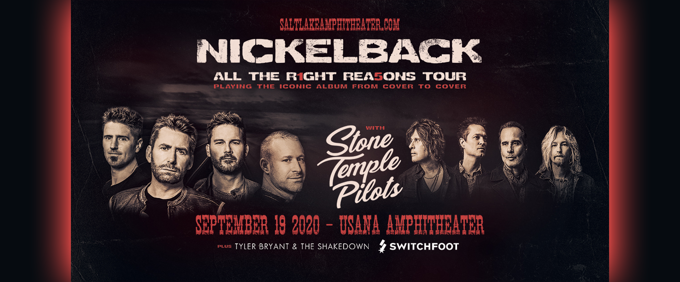Nickelback, Stone Temple Pilots & Switchfoot [CANCELLED] at USANA Amphitheater