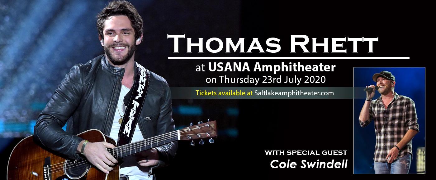 Thomas Rhett Cole Swindell Cancelled Tickets 22nd July Usana Amphitheatre