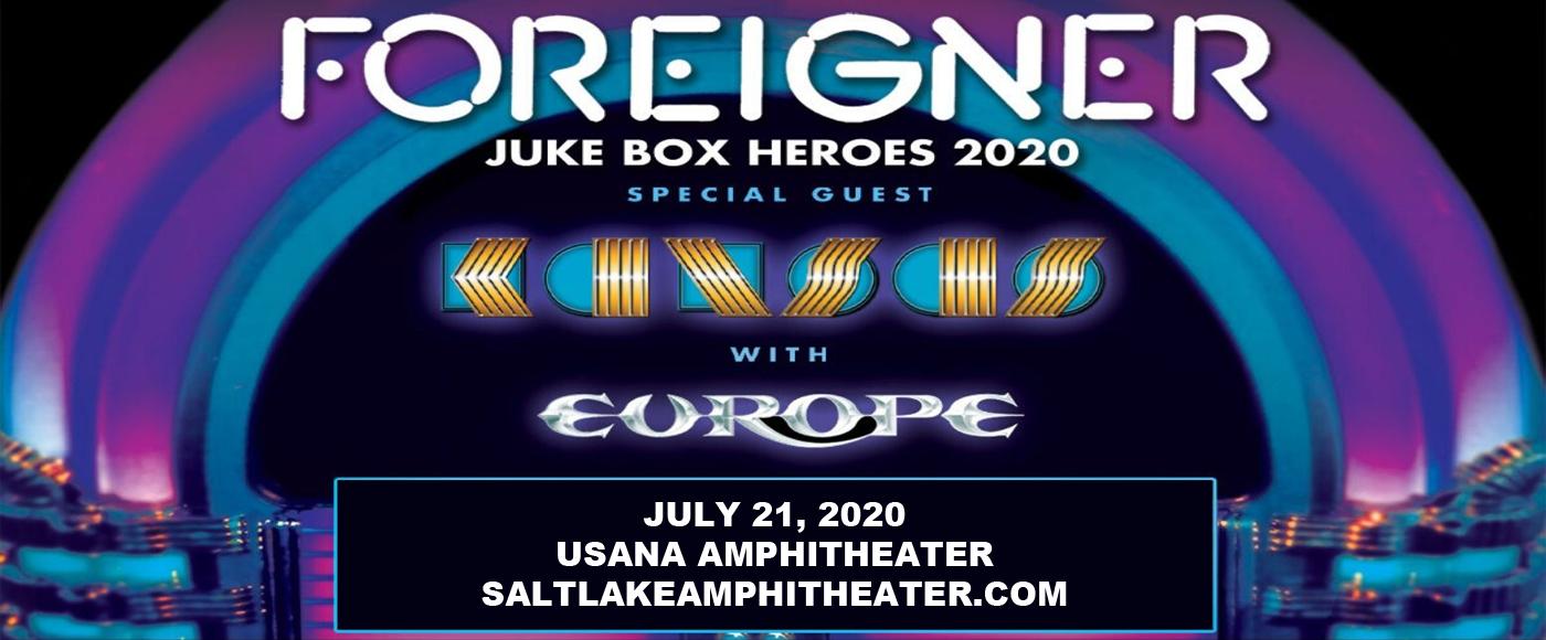 Foreigner, Kansas & Europe [CANCELLED] at USANA Amphitheater