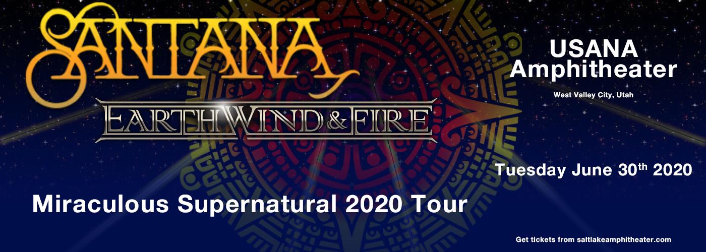 Santana & Earth, Wind and Fire at USANA Amphitheater